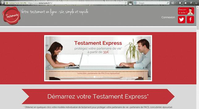 Mise à jour de Testamento.fr