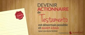 Crowdfunding - Prenez part au développement de Testamento