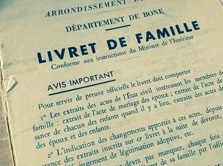Rechercher ses ancêtres - livret de famille