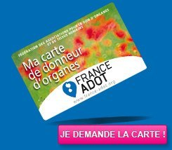 Don d'organes- Carte France ADOT