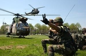 Militaire en action