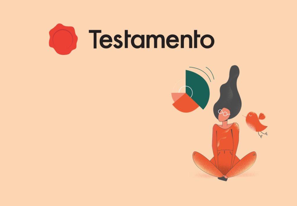 logo Testamento fond beige