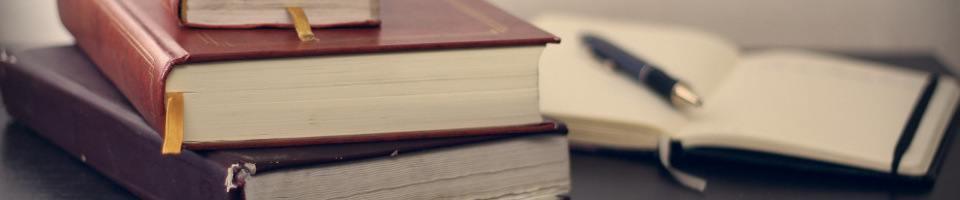 livres et carnet de notes