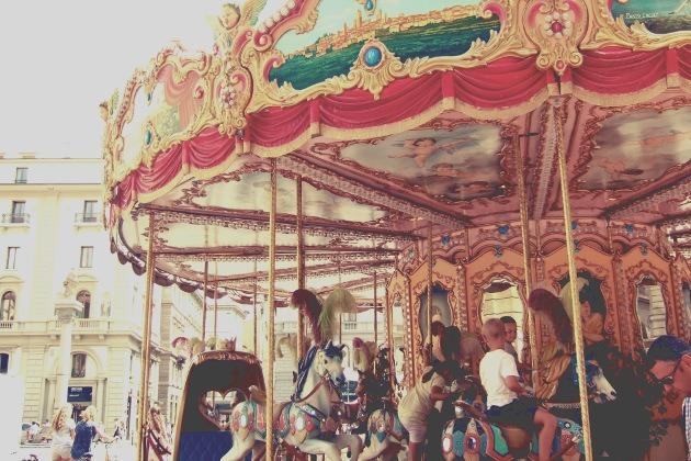 carrousel avec enfants