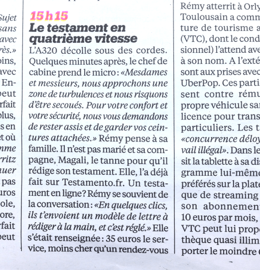 article dans liberation n°10606