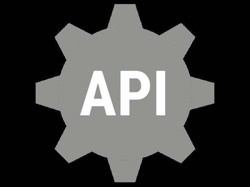 illustration API en engrenage