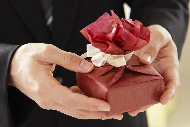 paquet cadeau rose
