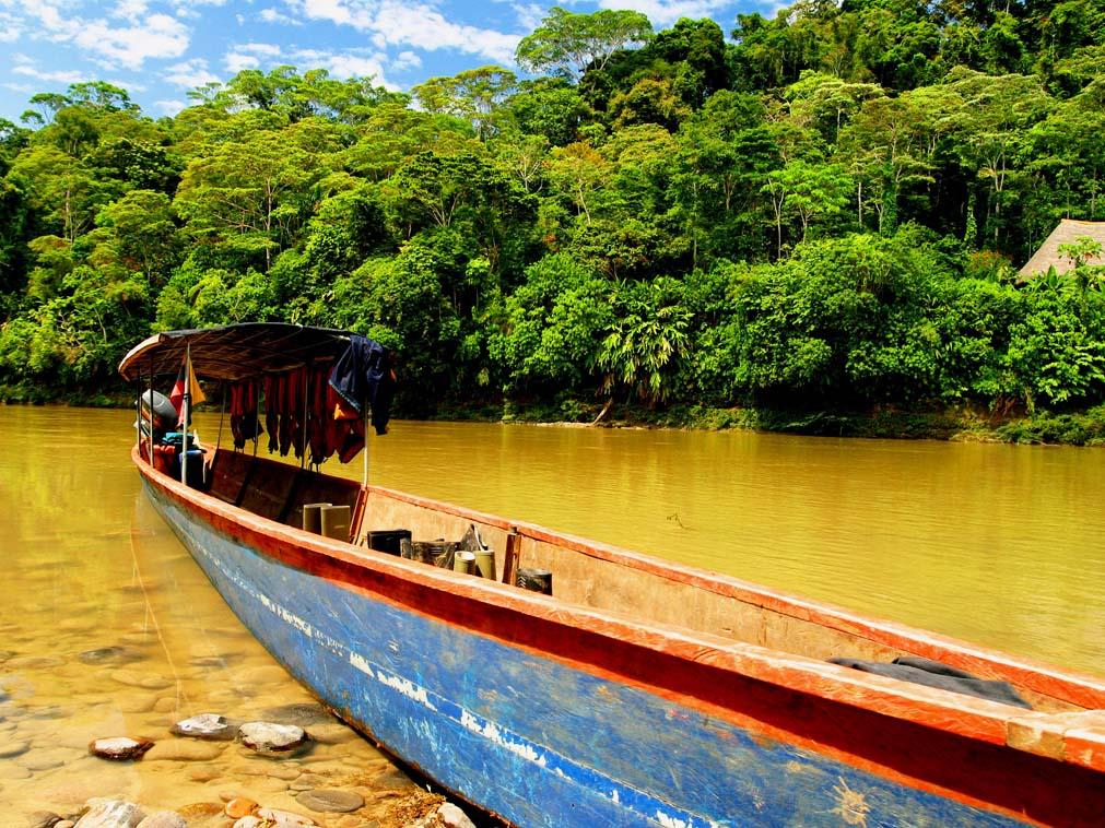 illustration bateau amazonie
