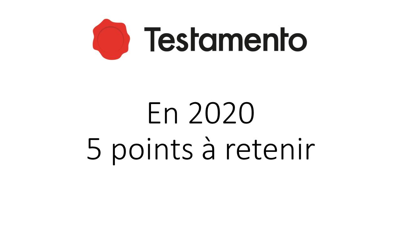 2020 pour Testamento