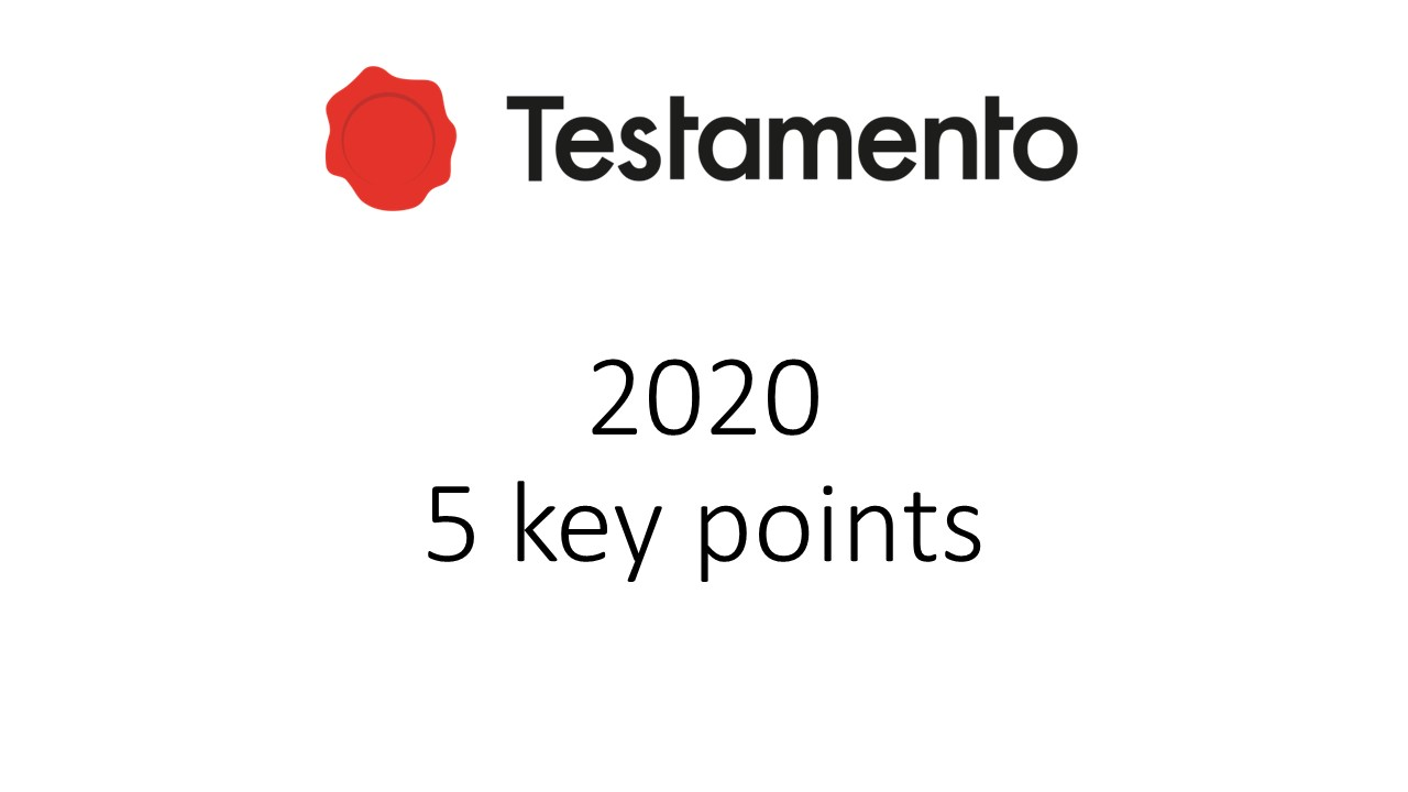 5 key points for Testamento in 2020