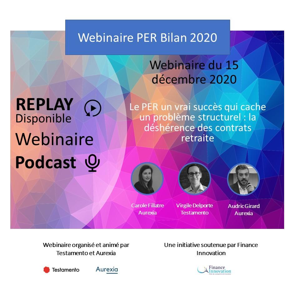 Replay webinaire PER 2020