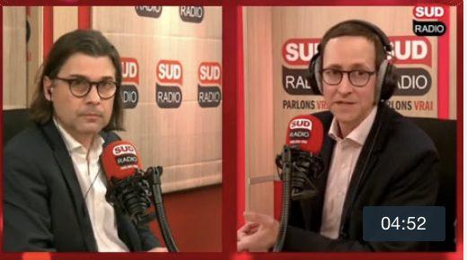Virgile DELPORTE interviewé sur Sud Radio
